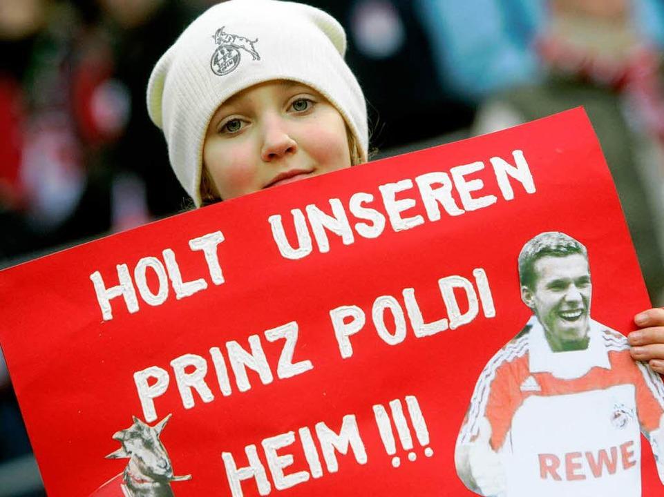 Lukas Podolskis Heimweh,  | Foto: dpa