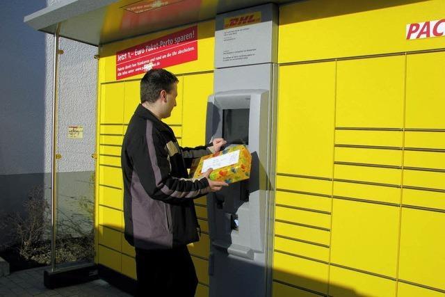 Packstation der Post am falschen Ort