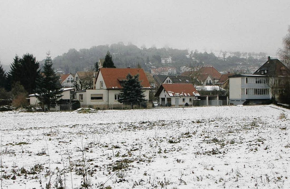 Neumatt, Hauingen: Hier wird im neuen Jahr gebaut.   | Foto: Trenz