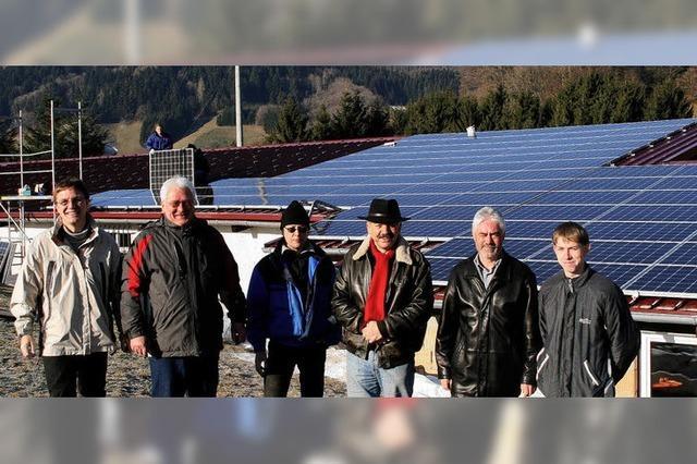 Sonnenkraftwerk Weideschuppen