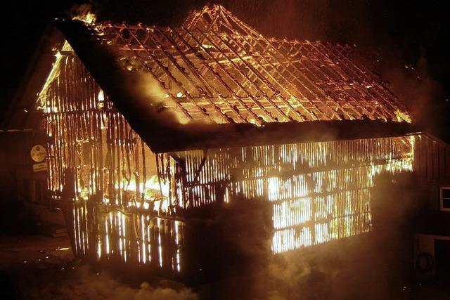 Gasthaus Bischenberg stand in Flammen
