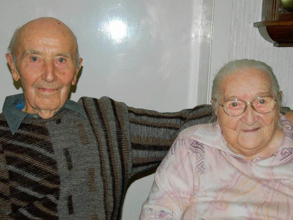 Seit 70 Jahren verheiratet: Elsa und Ernst Thommen.   | Foto: Umiger