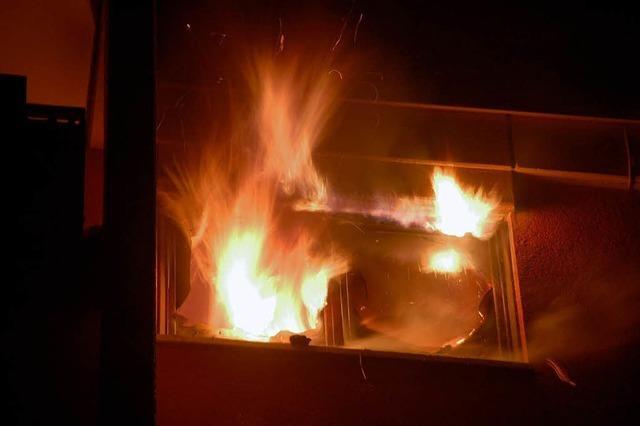 Brand in der Neujahrsnacht