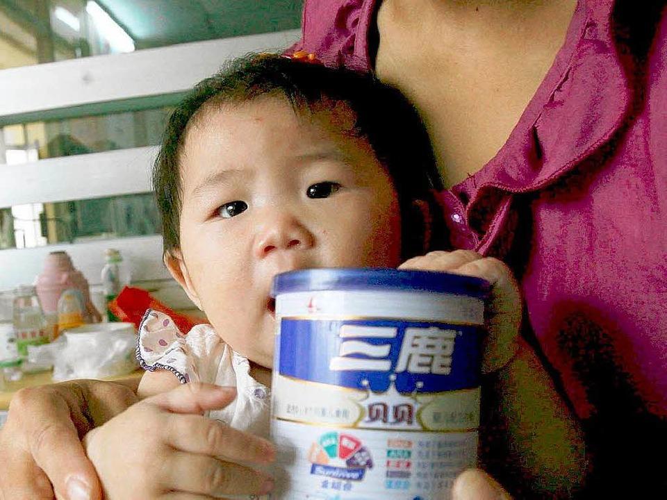 Melamin-Skandal: Nach amtlichen Angabe... rund 300. 000 Kleinkinder erkrankten.  | Foto: dpa