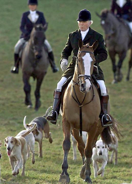"""Tally Ho!"" schallt der Ru...äger nun wieder über Englands Felder.   | Foto: dpa"
