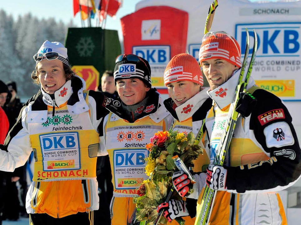 Das Siegerteam Tino Edelmann, Georg He...enzel und Björn Kircheisen (von links)