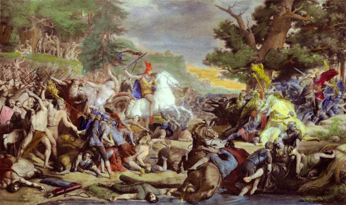 Die Varusschlacht um 9.n.Chr. machte Arminius unsterblich.  | Foto: akg