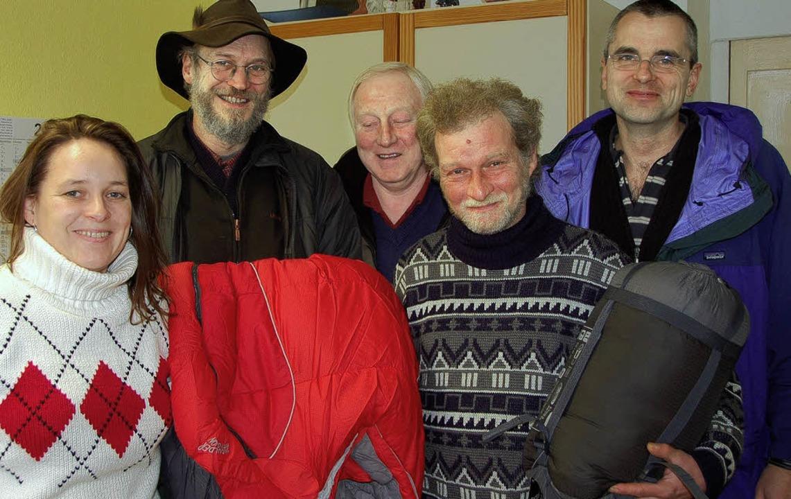 Schlafsäcke für frostige Zeiten:  Mike...einz (rechts) vom Erich-Reisch-Haus.    | Foto: britta kuck