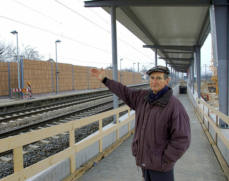 Für Adolf Hügel falsch geplant ist das...8211; über die  Lärmschutzwand hinweg.    Foto: Langelott