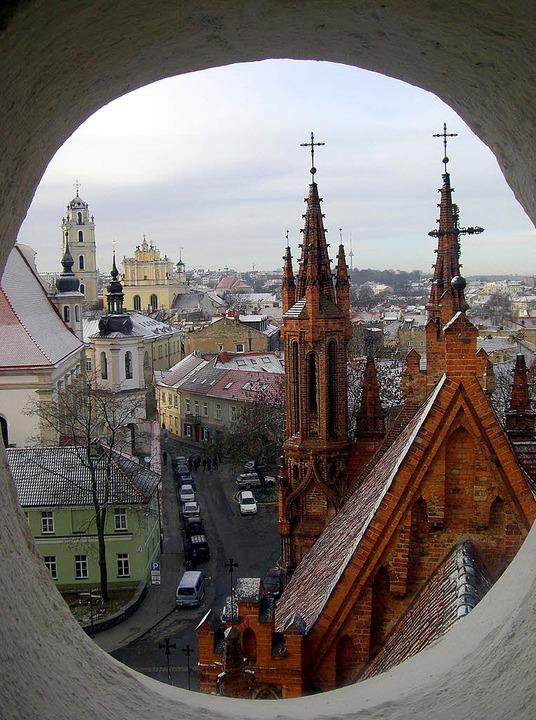 Vilnius, Stadt mit vielen Kirchtürmen   | Foto: dpa