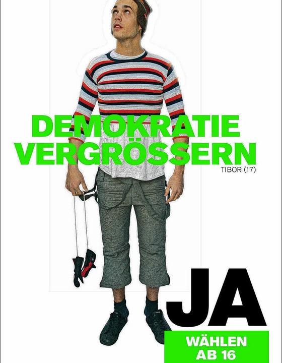 Eines der Basler Werbeplakate    Foto: BZ