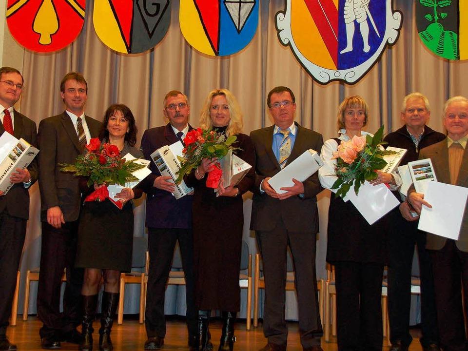 Klaus Dieter Sauer, Bernhard Schmolck,...e Greiner, Dieter Rutz, Herbert Dufner  | Foto: Sylvia-Karina Jahn