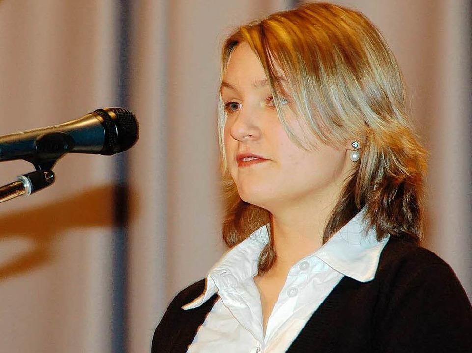 Julia Kruses Wunsch: Die Leistung der Jugend anerkennen    Foto: Sylvia-Karina Jahn