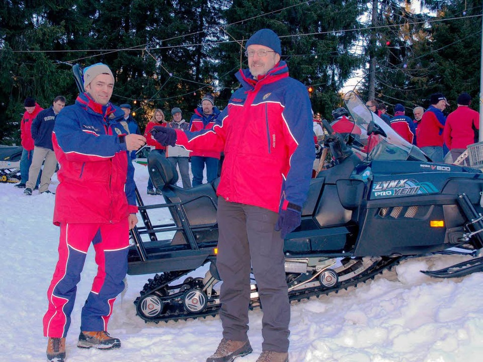 Frank Kühnel, Landesvorsitzender der B...en Vorsitzenden der Bergwacht Schönau.  | Foto: Karin Maier