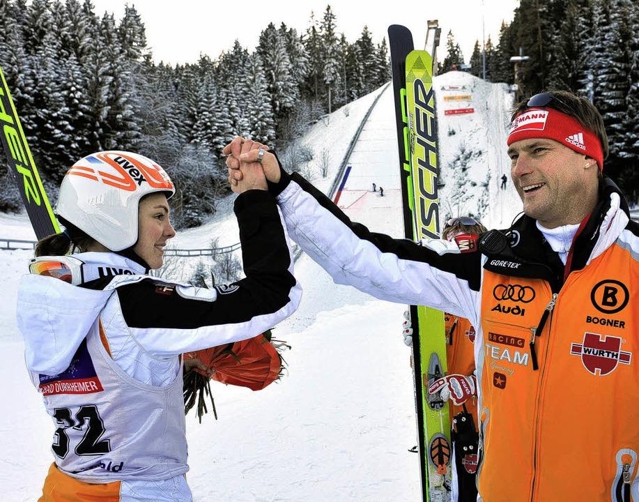 Lob vom Bundestrainer: Magdalena Schnu...ngenwaldschanze auf den dritten Platz.  | Foto: Patrick Seeger