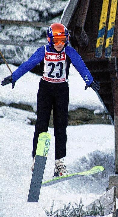 Bestes Mädchen beim Pokalspringen in Bubenbach war Carina Wursthorn aus Waldau.     Foto: Junkel