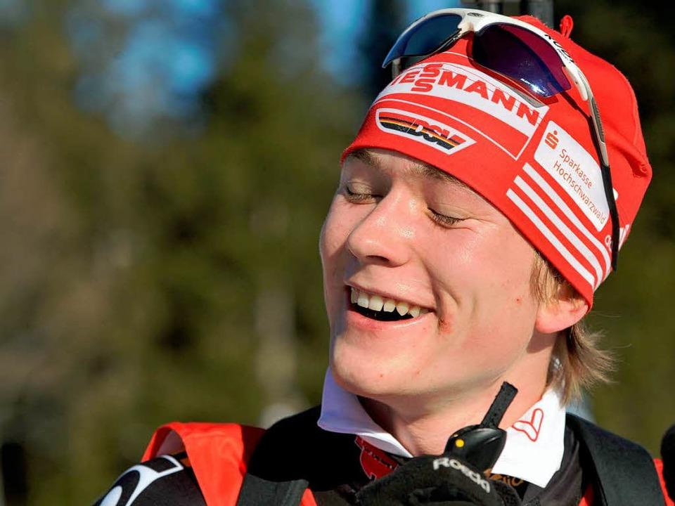 Smarter Blonder mit langem Schlittschu...reitnau, Souverän bei den Junioren 18.  | Foto: Patrick Seeger