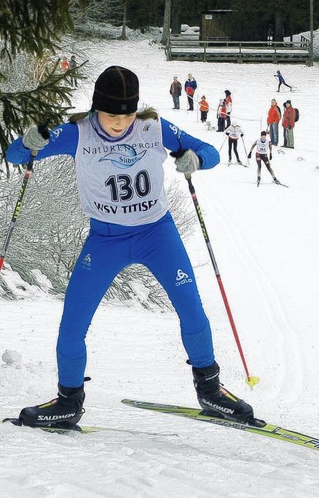 Schnellste Schülerin beim Skiathlon: Alina Waldvogel von der WSG Feldberg  | Foto: junkel