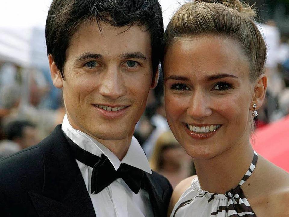 Martin Schmitt mit seiner Freundin Patricia Steiner.  | Foto: ddp