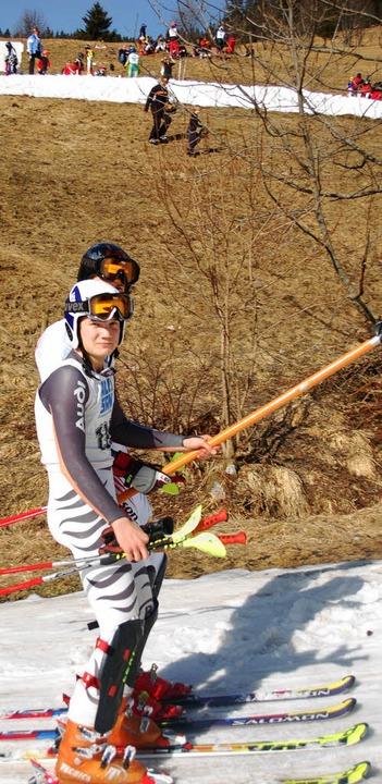 Vor einem Jahr rutschten die Skiläufer...Tauwetter (noch) keinen Schneemangel.     Foto: Junkel
