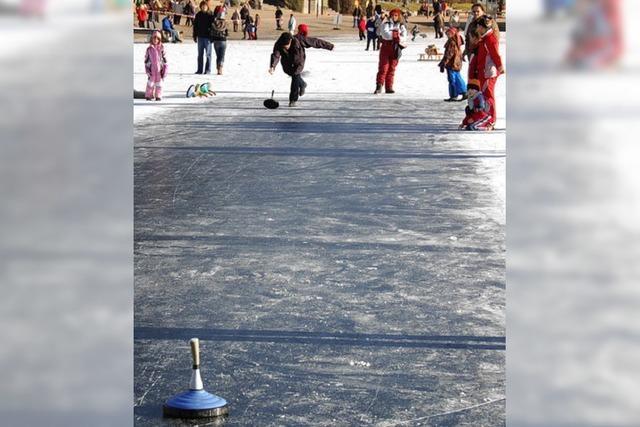 Eissport auf dem Titisee