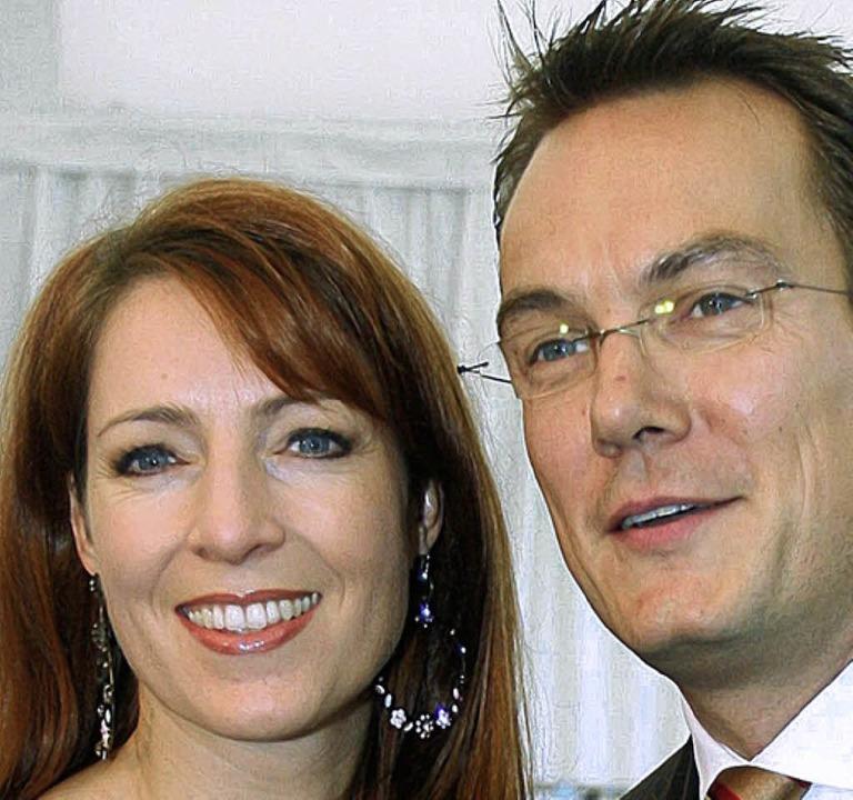 Monica Lierhaus und ihr Lebensgefährte Rolf Hellgardt   | Foto: dpa