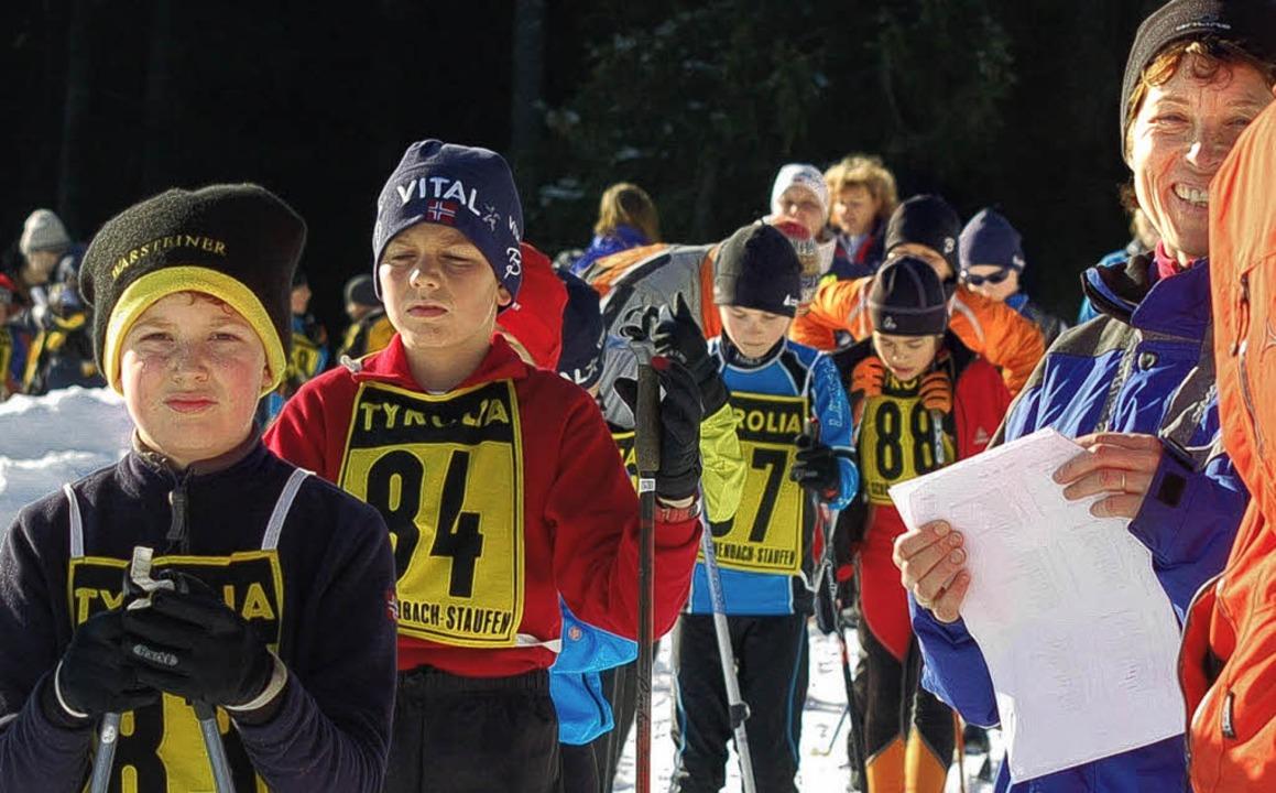 Ihnen  gehört die Zukunft:   In Schöne... Kinder beim ersten Bezirkspokalrennen  | Foto: junkel