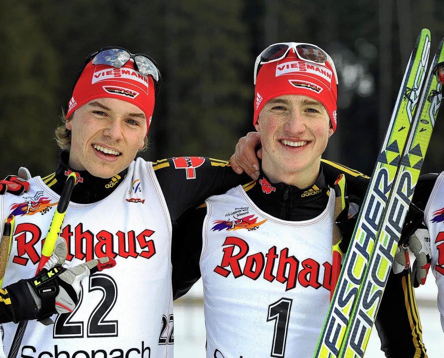 Fabian Rießle (links) von der SZ Breit... mit Deutschland III gestern Dritter.     Foto: PAtrick Seeger
