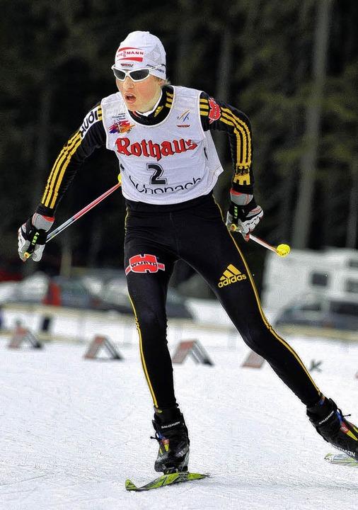 Tobias Simon wurde Erster und Zweiter ... kämpfte beherzt auf der Skatingpiste.    Foto: Patrick Seeger