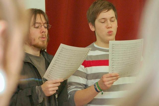 Schüler führen Jens Uhlenhoffs Musical auf