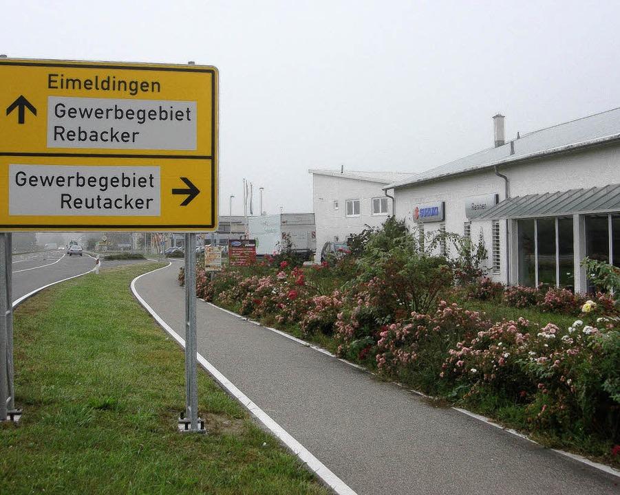 Im Gewerbegebiet Reutacker in Eimeldin...s im Sommer wieder eine Gewerbeschau.   | Foto: Langelott