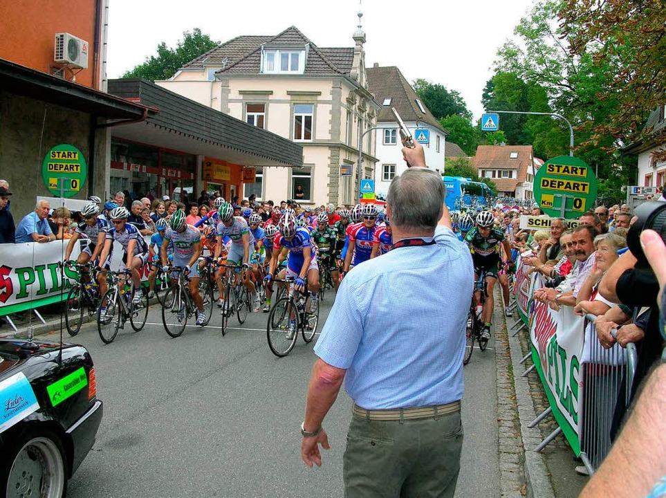 Will auch in Zukunft bei der Regio-Tou... ein Bild vom Start einer Etappe 2008.  | Foto: Bernd Michaelis
