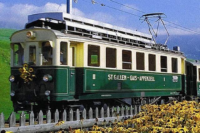 Ein Bahnausflug ins Säntis-Gebiet