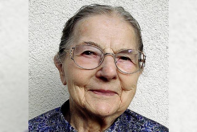 Luise Holzer wird 90 Jahre