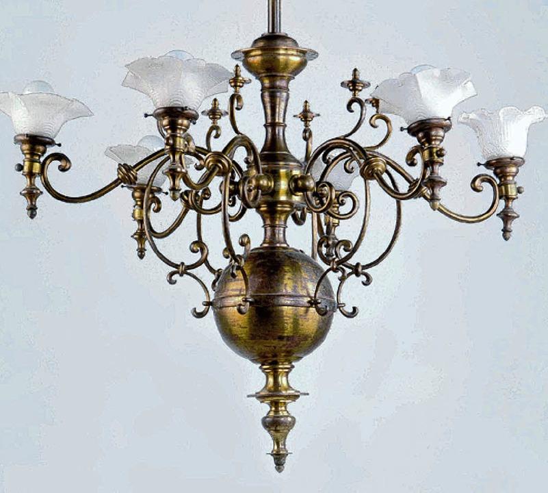 Leuchter aus der alten Synagoge Lörrach  im Museum     Foto: BZ