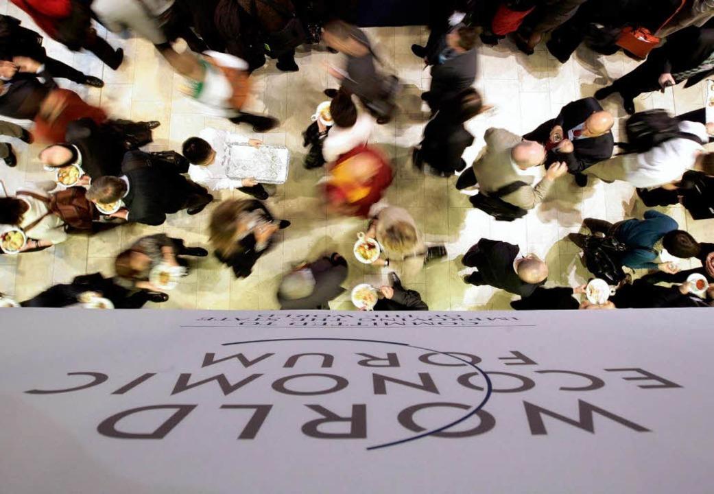 Treffen der globalen Elite: das Weltwirtschaftsforum in Davos.   | Foto: DPA