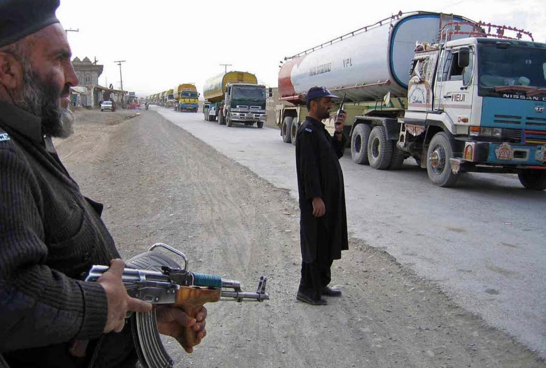 An der pakistanisch-afghanischen Grenz...Region werden zunehmend gefährlicher.   | Foto: AFP