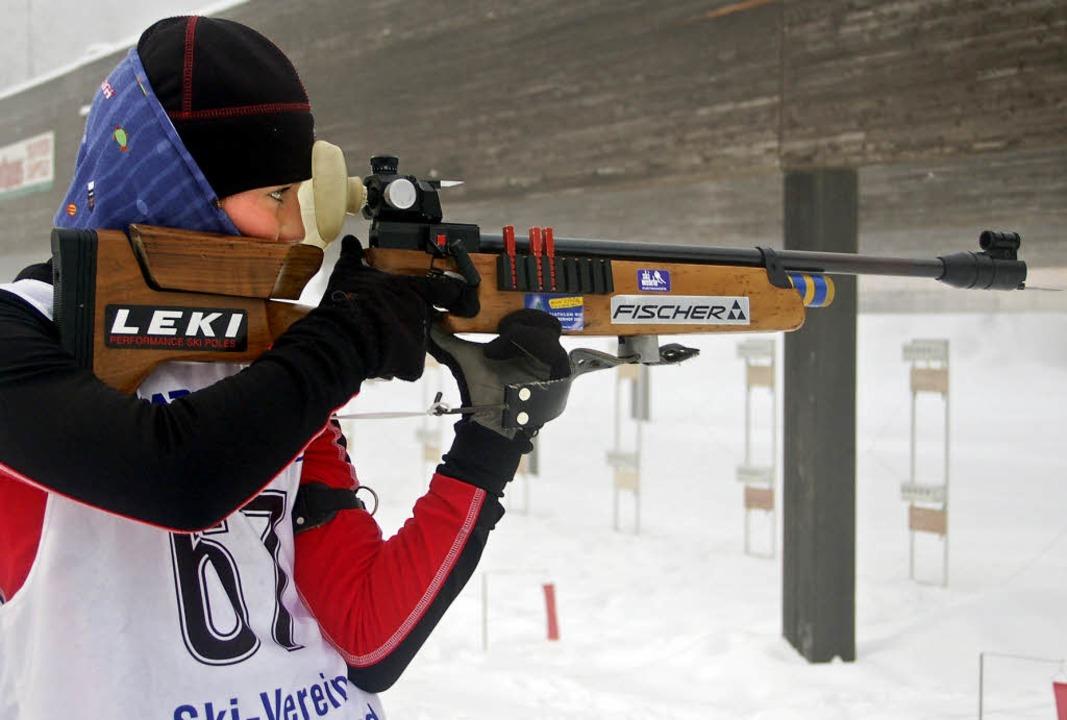 Alina Waldvogel von der WSG Feldberg b... Schülercup  die Ränge vier und  acht.  | Foto: junkel