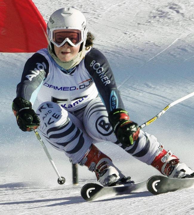 Noelle Ortholf (SV Schauinsland) wurde im Riesenslalom Zweite.   | Foto: gh