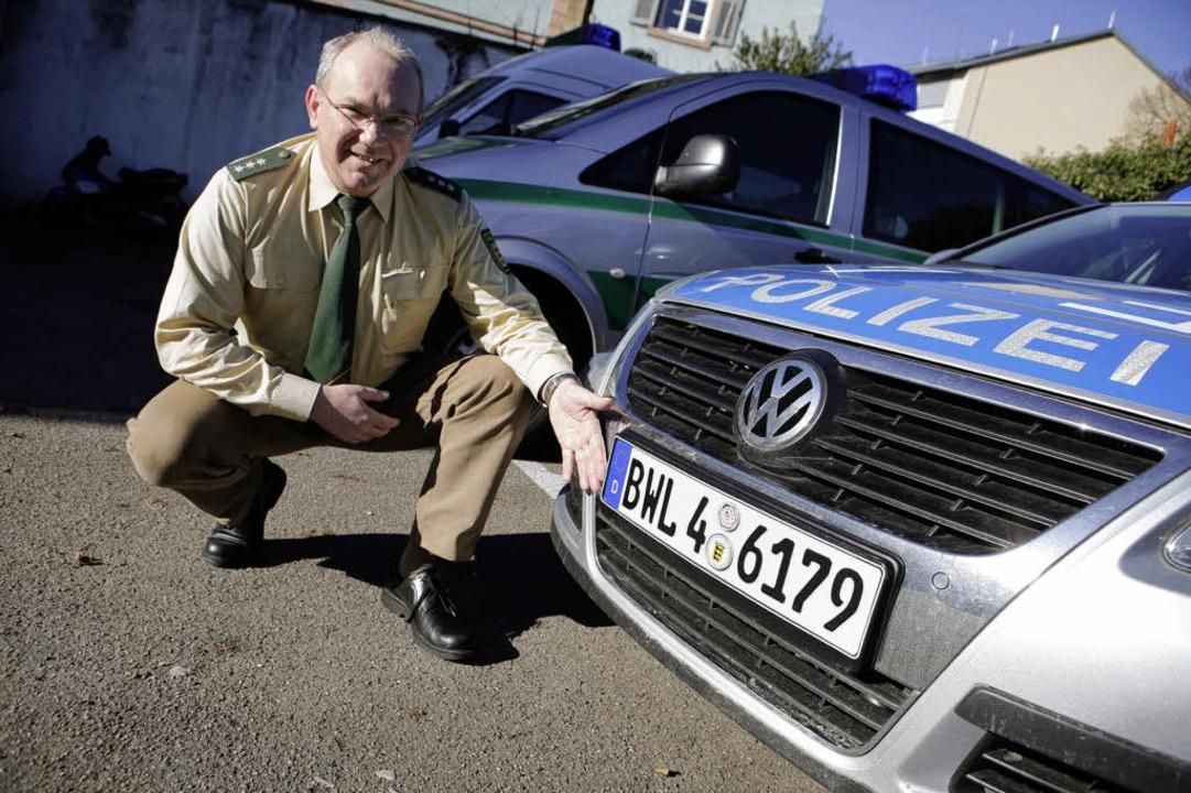Hauptkommissar Siegmund Trahasch vom P... für einen Streifenwagen in Südbaden.   | Foto: christoph breithaupt