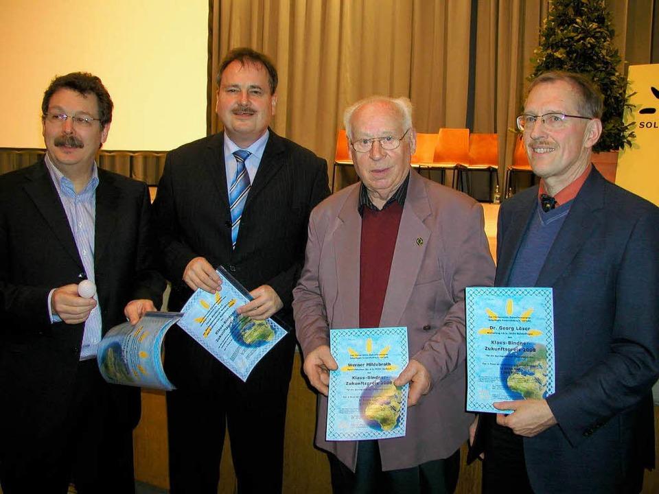 Preisverleihung in Weisweil: Von links...sbach) und Georg Löser (Gundelfingen),  | Foto: Ilona Hüge