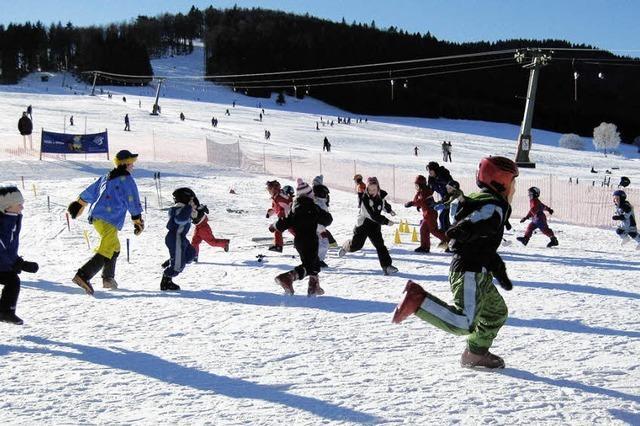 Vorbereitung für Skifest