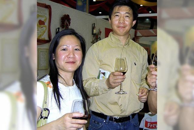 Italiener auf der Weinmesse