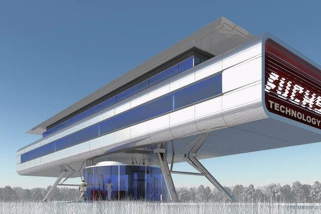 Ein Büro-Haus wie ein Raumschiff