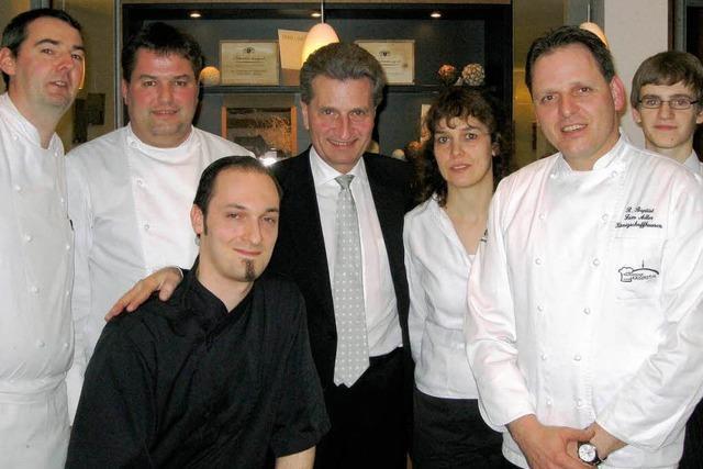 Oettinger ließ sich kulinarisch verwöhnen
