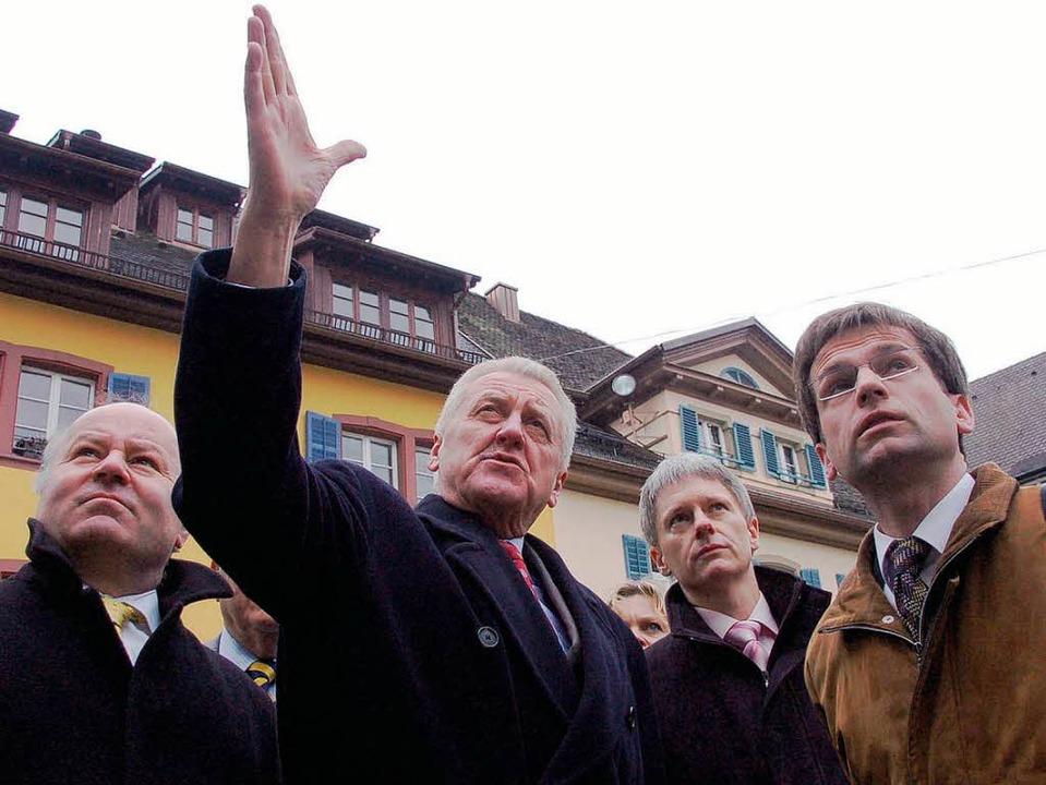 Landtagsabgeordneter Dieter Ehret, Min...her Büro für Bautechnik (von links).    | Foto: Markus Donner