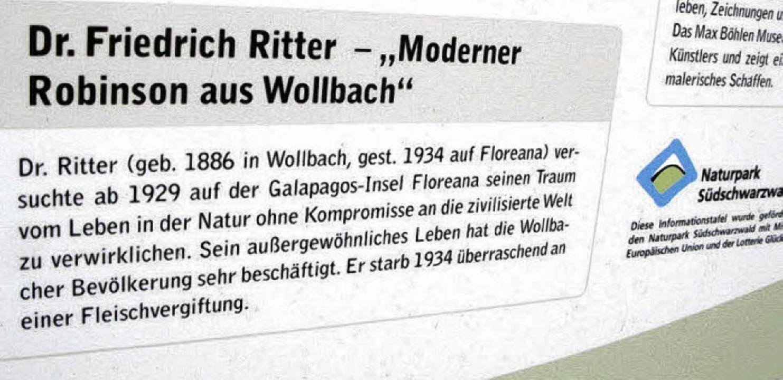 """Die Ortstafel bei der Krone weißt auch...dernen Robinson"""" aus Wollbach hin    Foto: Birgit-Cathrin Duval"""