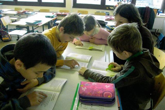 Schüler genießen die Lesestunden