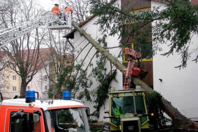 Sturm beschädigt Dächer