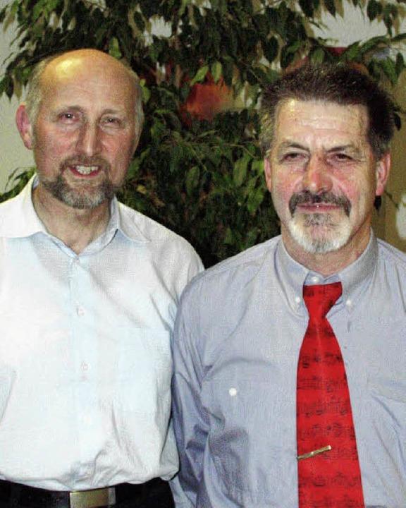 Vorsitzender Klaus Rempfer und sein Stellvertreter Karl-Friedrich Ludin.  | Foto: Paul Schleer